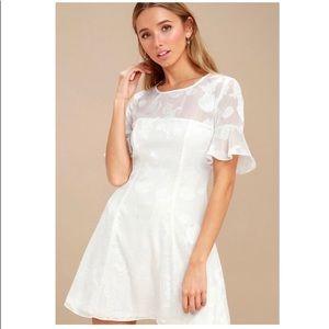 Lulu's • Shell Print Flounce Sleeve Mini Dress